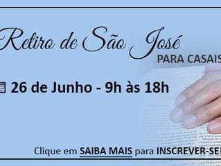 Retiro de São José para Casais está com inscrições abertas