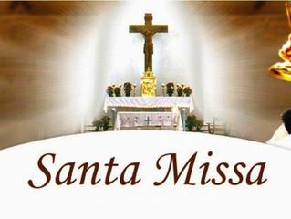Programação da Santa Missa na Catedral e nas comunidades