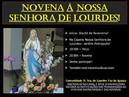 Novena em honra a Nossa Senhora de Lourdes