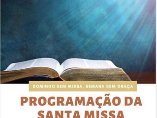Programação Santa Missa na Catedral e comunidades