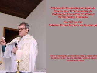 Pároco da Catedral comemora 17 anos de ordenação