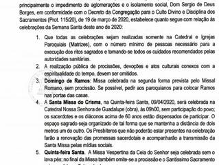 Orientações sobre as celebrações da Semana Santa na Diocese de Foz do Iguaçu