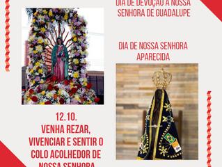 12/10: Dia de Nossa Senhora Aparecida e de Devoção a Guadalupe