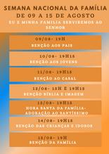 Semana Nacional da Família: Eu e minha Família serviremos ao Senhor