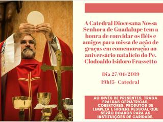 Aniversário pároco da Catedral