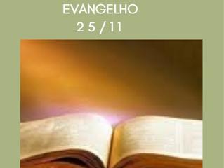 Reflexão do Evangelho - 25-11