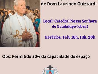 Horário das celebrações do funeral de Dom Laurindo Guizzardi