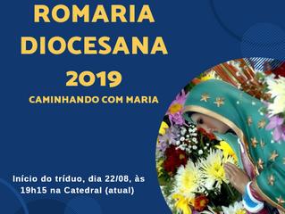 Romaria Diocesana: Início do tríduo.