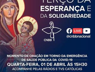 Fiéis se unem novamente para Terço da Esperança e da Solidariedade nesta quarta-feira