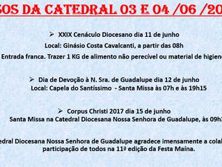 Avisos Catedral (03 e 04/06/2017)