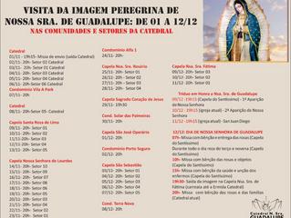 Visita da Imagem Peregrina de Nossa Senhora de Guadalupe nos setores da Catedral e comunidades!