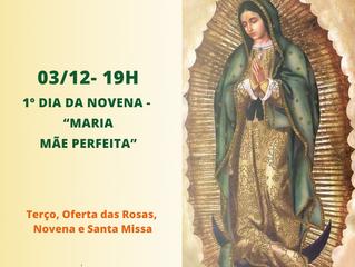 Primeiro dia da Novena de Guadalupe
