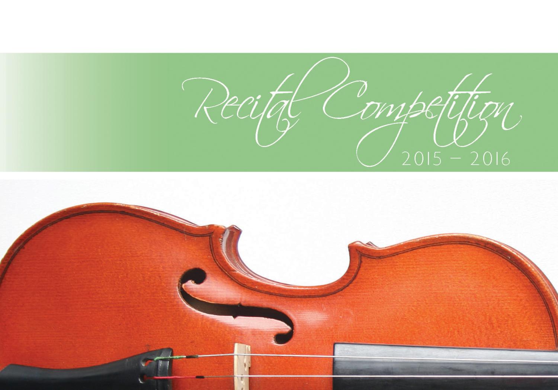 Classical Recital 2015-2016