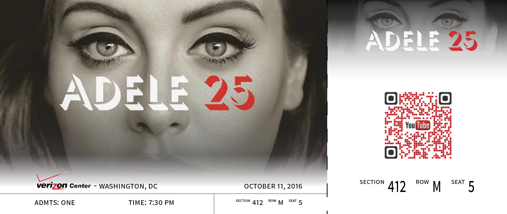 Adele Custom Ticket