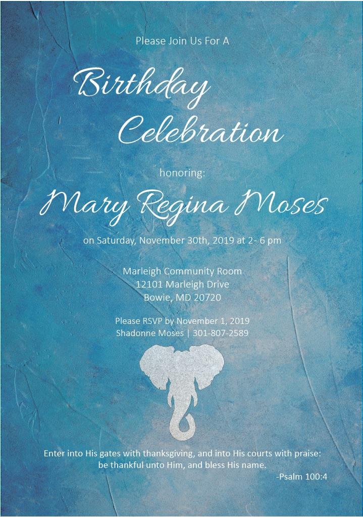 Birthday Invitation 2019