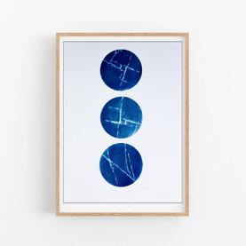 Cianotipia Original. Original cyanotype.