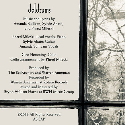 BeeKeepers Doldrums Single Back Cover