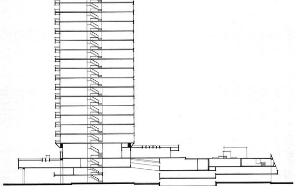 Amoudi Center Diagramatic Section
