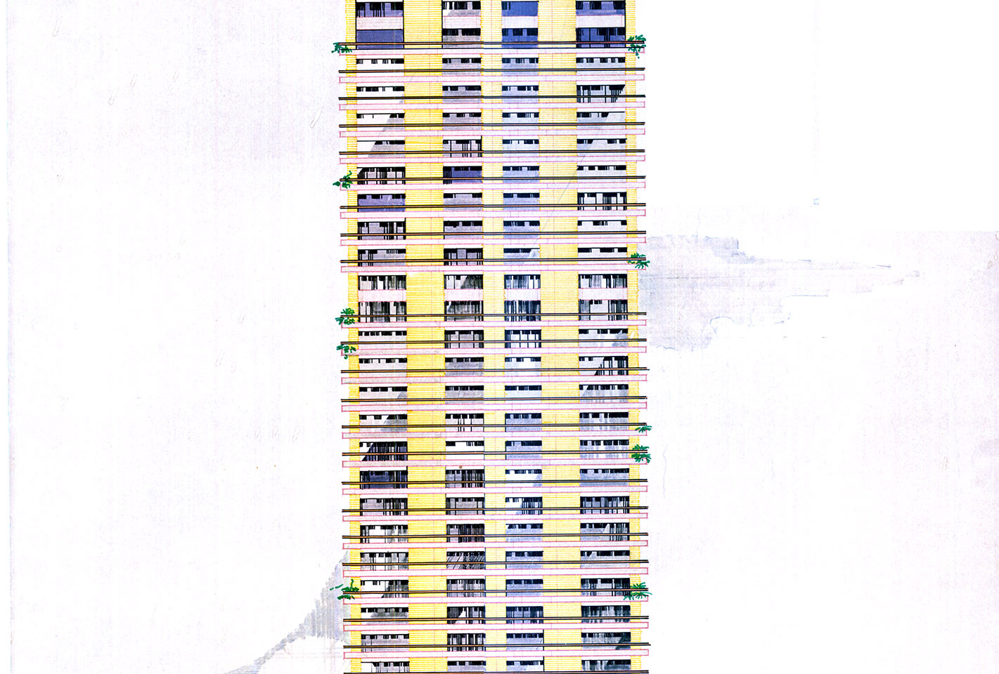 Hedico Maadi 200 Skyscraper Rendered Facade