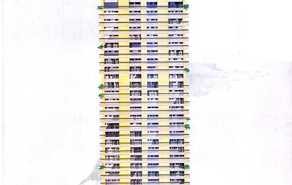 Hedico Maadi 200 Skyscraper Rendered Facade