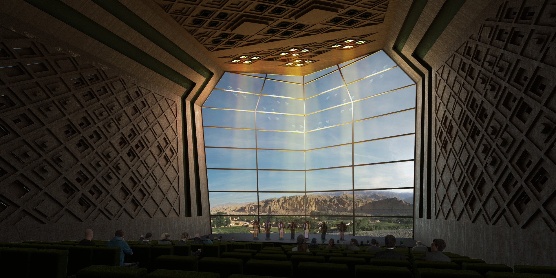 Bamiyan Cultural Center Performance Hall Perspective