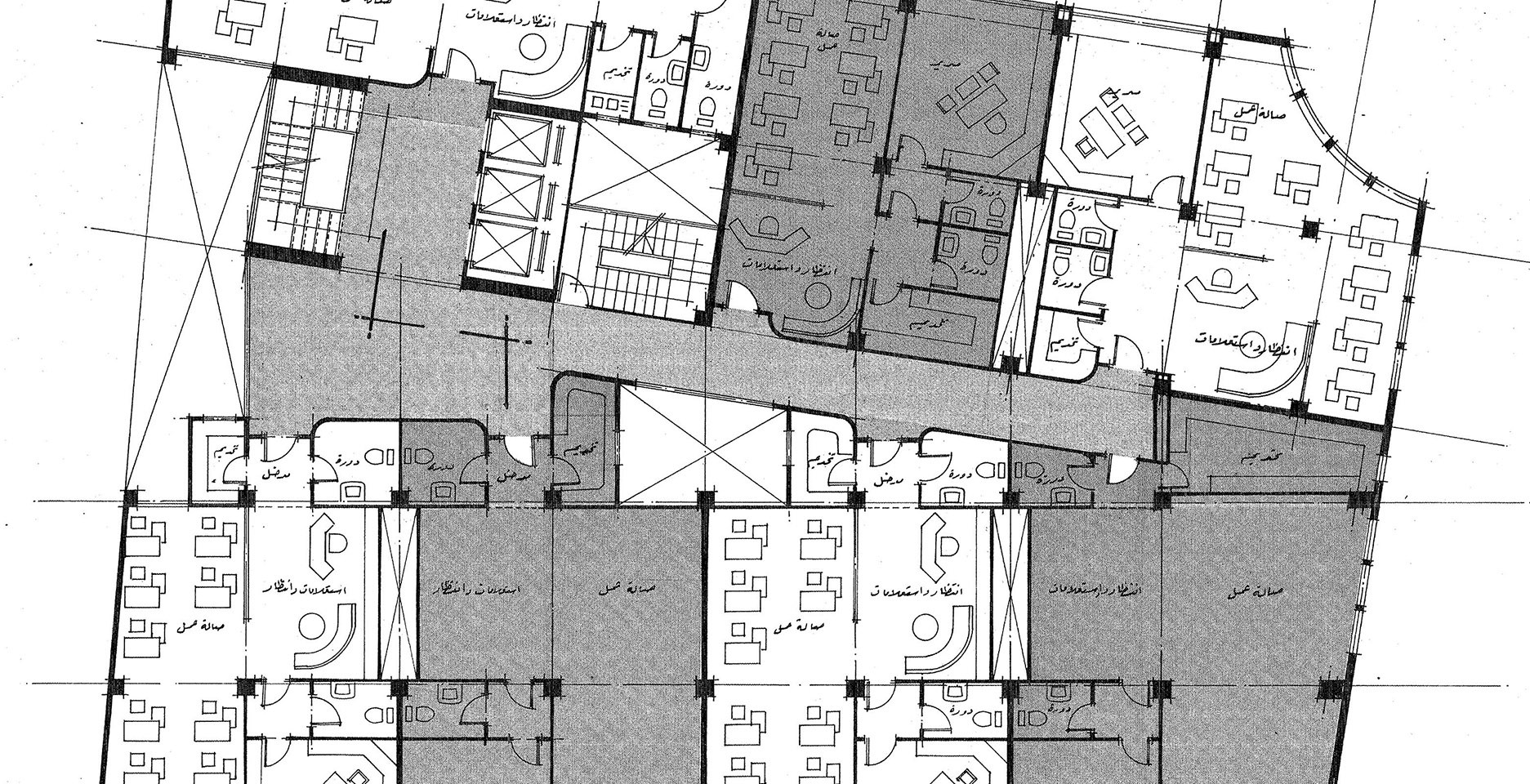 Misr Insurance Shubra Mixed Use Building Typical Office Plan