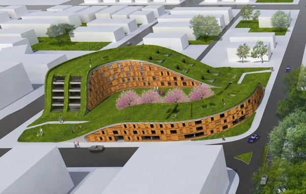New Urban Village Christchurch Aerial View