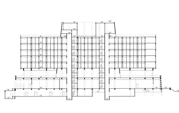 Luxor Hilton Longitudinal Section