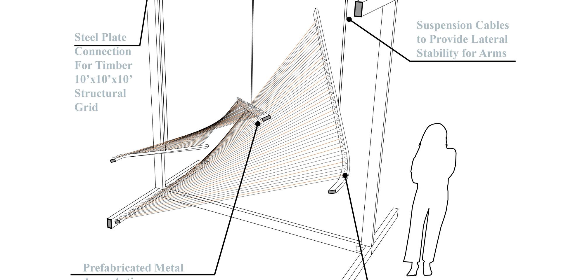 Dancing Harps Construction Diagram