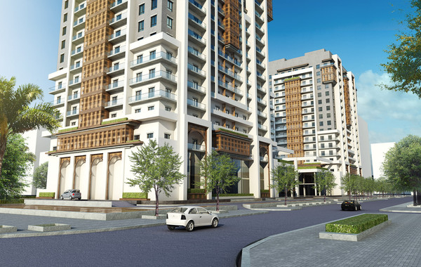 Marina Twin Towers Facade Option 02 Street View