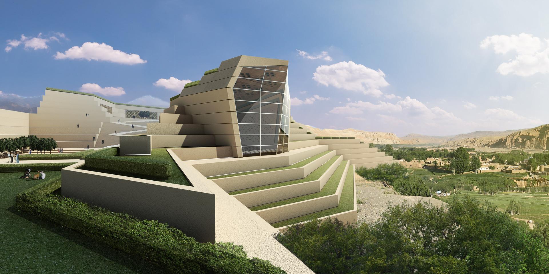 Bamiyan Cultural Center Exterior Perspective