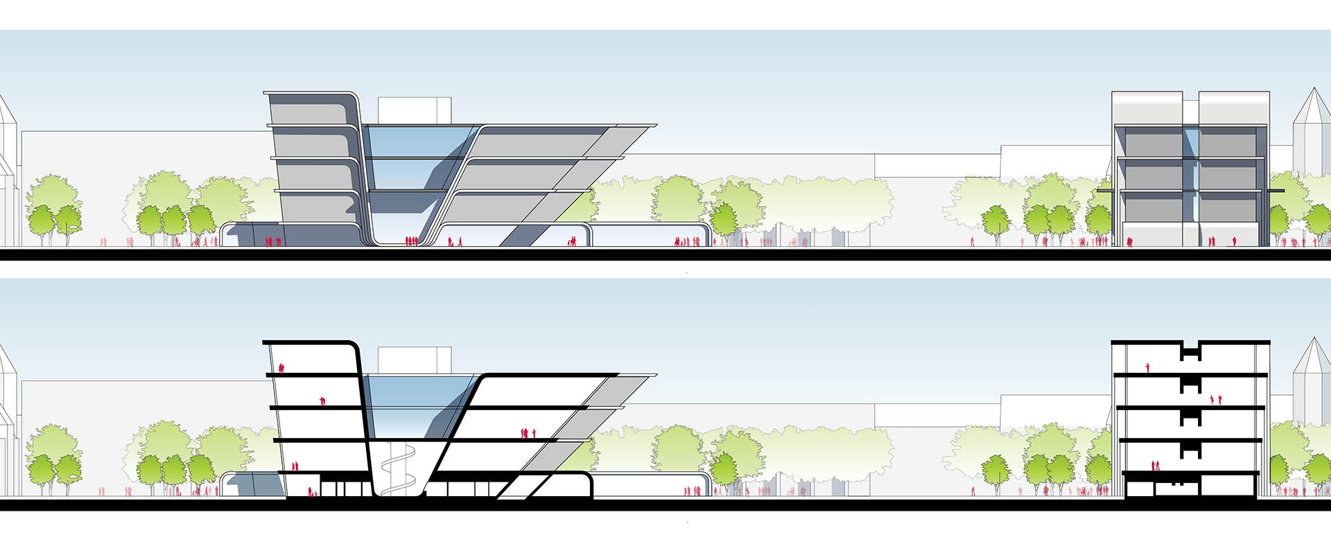 The New Bauhaus Museum Sections / Elevations