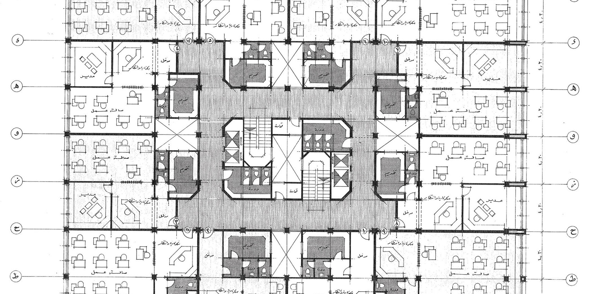 Misr Insurance Giza Mixed Use Building Typical Office Plan