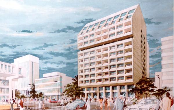 Misr Insurance Shubra Mixed Use Building Watercolor Rendering