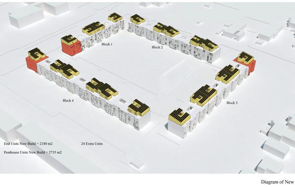 Ellebo Housing Renovation Diagram of New Built Portions