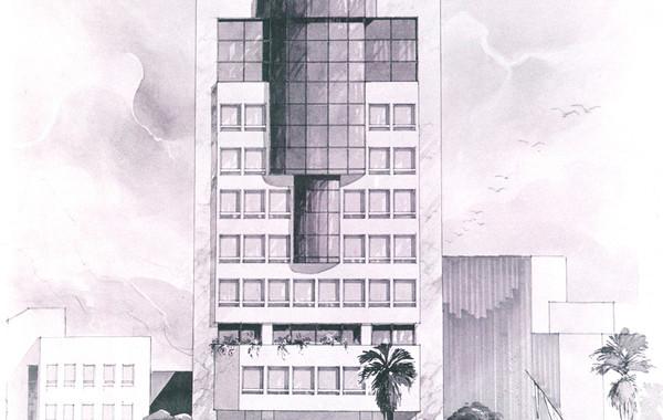 Central Bank of Egypt Rowd el Farag Office Building Facade Rendering