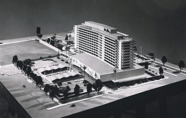 Photograph of the Model of the Nile Hilton Hotel. Image courtesy of RiadArchitecture.