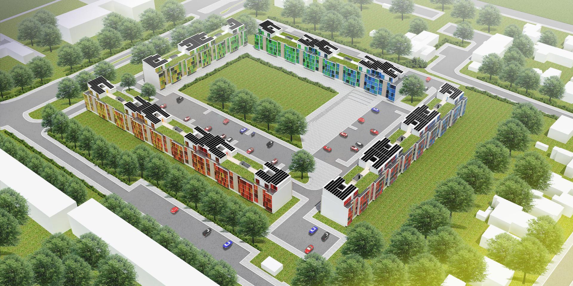 Ellebo Housing Renovation Aerial View