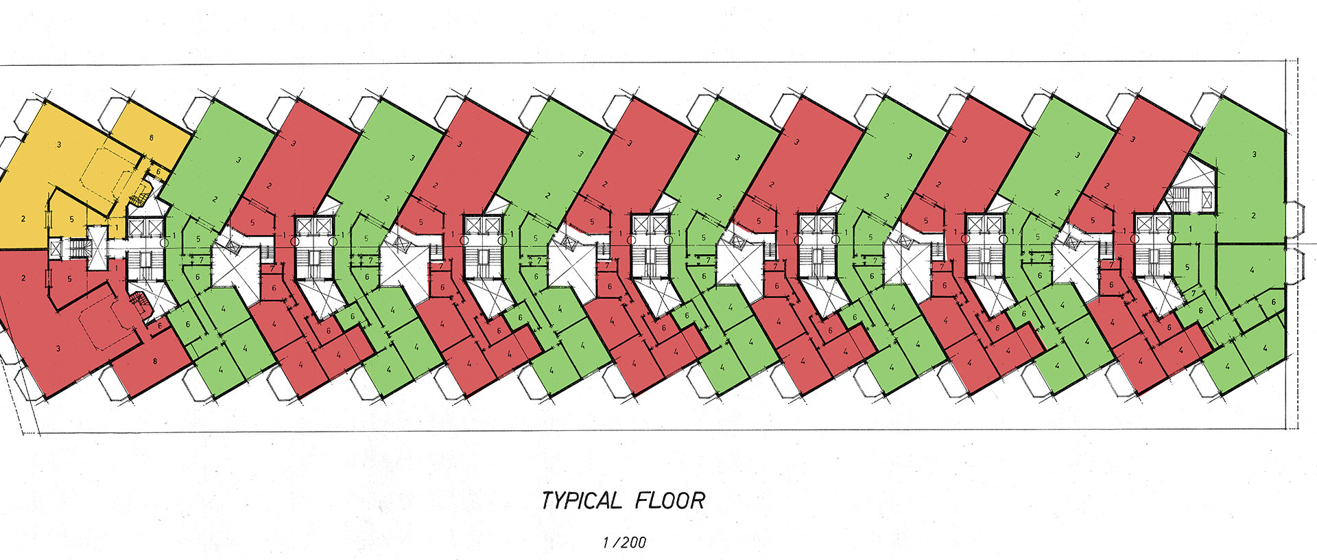 Hedico Maadi 200 Skyscraper Typical Floor Plan