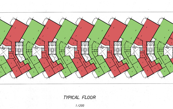 Hedico Maadi 200 Skyscraper Typical Floor Plan