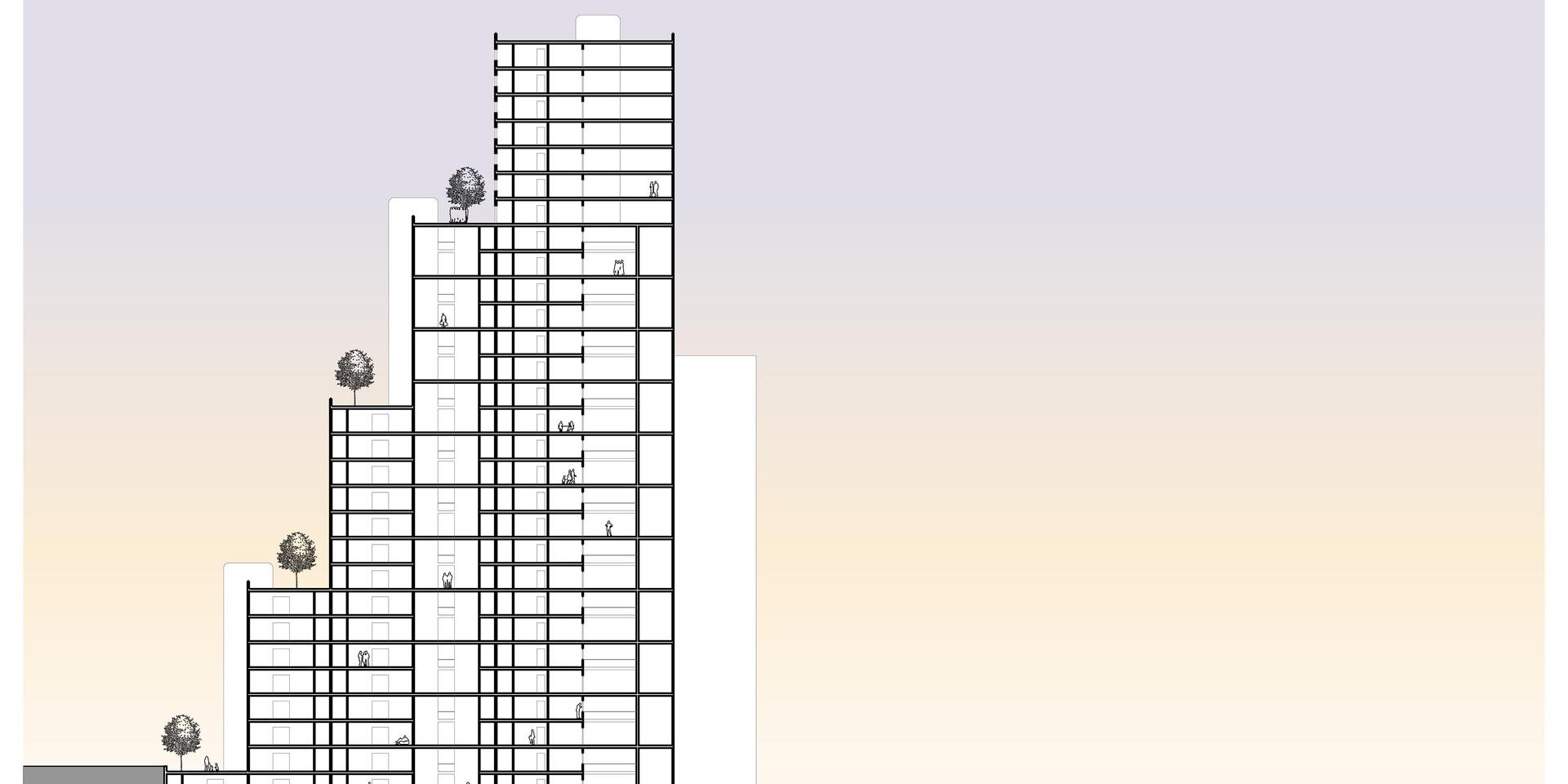 Lima Golf Tower Longitudinal Section