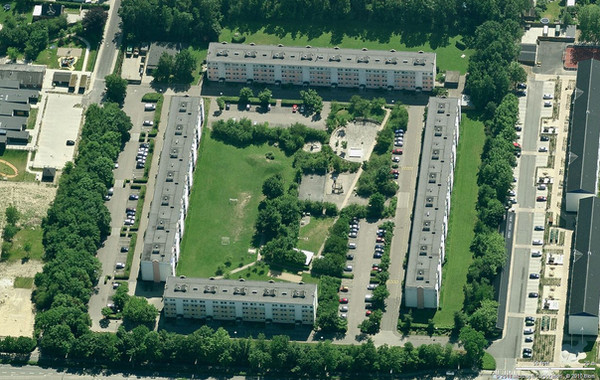 Aerial View showing the Existing condition of the complex