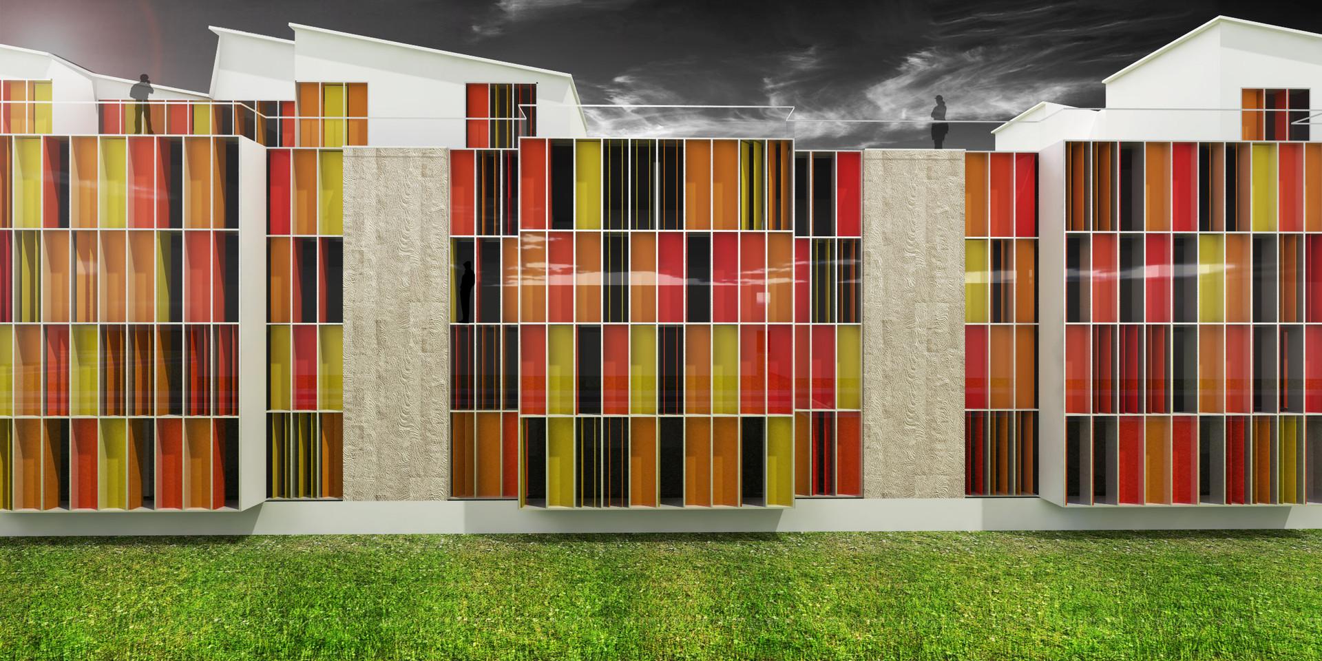 Ellebo Housing Renovation Facade View