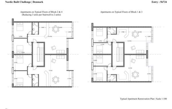 Ellebo Housing Renovation Typical Apartment Plan