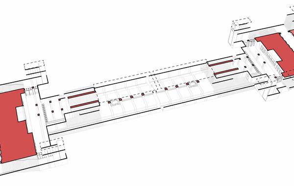 Novoperdelinko Metro Station Axon Diagram