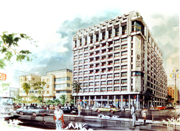 Misr Insurance Giza Mixed Use Building Watercolor Rendering