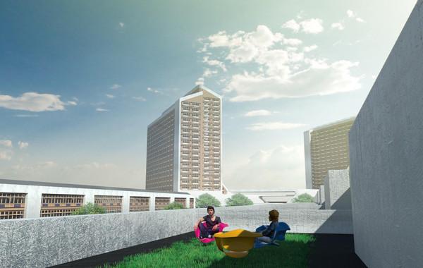 Zim Masterplan Building Type 1 Roof View
