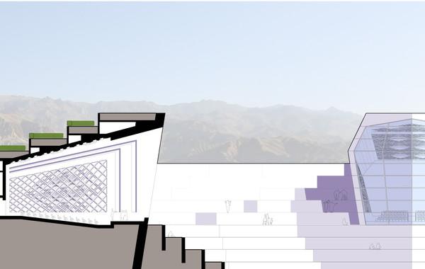 Bamiyan Cultural Center Section / Elevation
