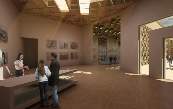 Bamiyan Cultural Center Reception Perspective