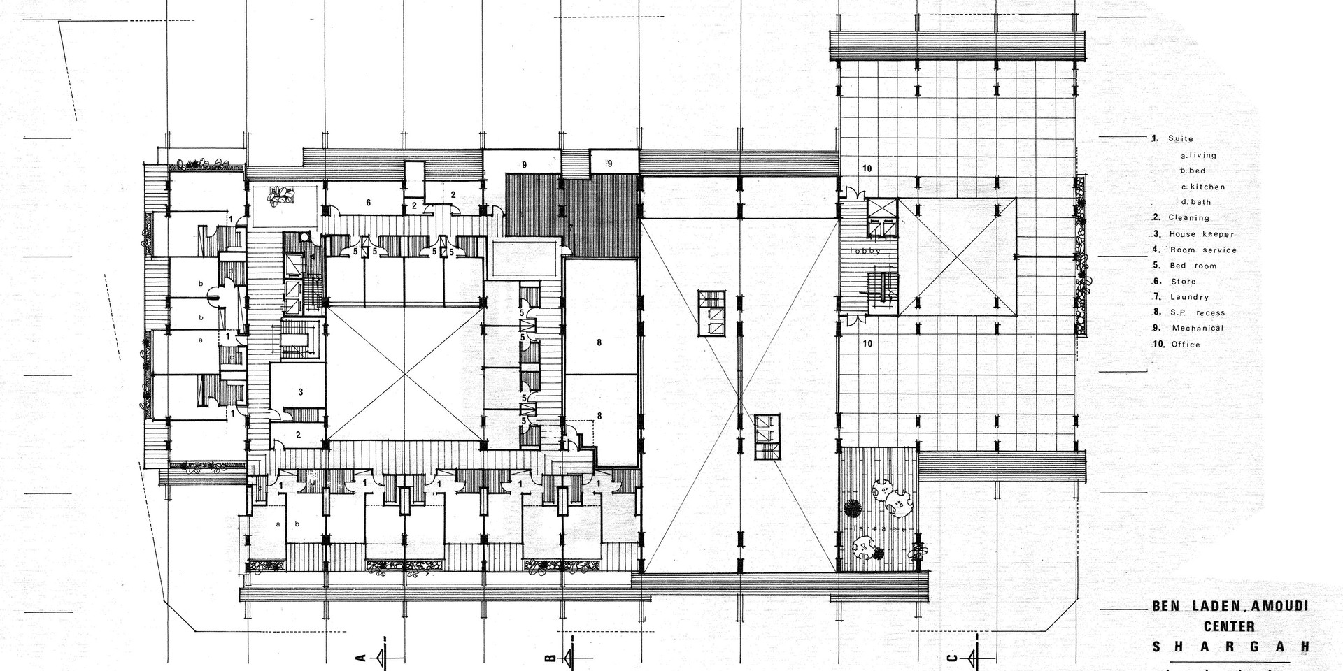 Amoudi Center Second Floor Plan